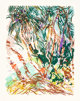 MALCOLM MORLEY (British, b. 1931) Coconut Grove, 1987 Lithograph in colors on Arches paper 28-1/2 x 21-7/8 inches (72