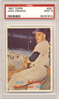Baseball Cards:Singles (1950-1959), 1957 Topps Jack Crisman #297 PSA Mint 9. Could you ever ask for abetter centered card? There is no wonder that this card gr...