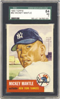Baseball Cards:Singles (1950-1959), 1953 Topps Mickey Mantle #82 SGC 84 NM 7. This is a high-qualityrepresentation of the Mick's second Topps card, offering on...