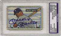 1951 Bowman Mickey Mantle #253 Card, Signed. The rookie card! The one that started it. One of his best cards for signing...