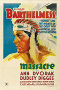 "Movie Posters:Western, Massacre (First National, 1934). One Sheet (27"" X 41""). ..."