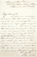 Autographs:Military Figures, James C. Rice War Date Autograph Letter Signed...