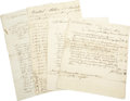 Autographs:Military Figures, Whiskey Rebellion - An Important Grouping of Documents,... (Total:4 Items)