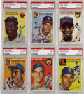 Baseball Cards:Sets, 1954 Topps Baseball Complete Set (250). This classic presents both portrait and action shots on each card. The issue include...