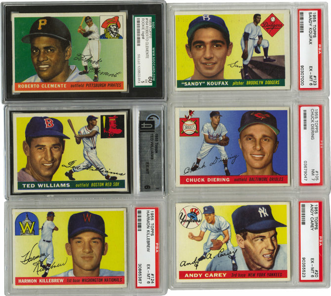 1955 Topps Baseball Complete Set 206 Numerically The Smallest