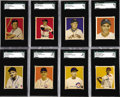 Baseball Cards:Sets, 1949 Bowman Baseball Near Set (232/240). Offered is a 1949 Bowmannear set of 232/240 cards missing #'s 46 Roberts, 50 Robin...