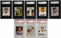 Baseball Cards:Sets, 1950 Bowman Baseball Near Set (250/252). Offered is a 1950 BowmanNear Set of with missing #'s 22 Robinson and 75 Campanella...