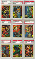 Non-Sport Cards:General, 1962 Topps Mars Attacks Complete Set (55). Simultaneously charmingin its cartoonish design and horrifying in its depictions...