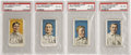 Baseball Cards:Lots, 1911 D359 Rochester PSA-Graded Lot of 4. Four of the twenty-oneexamples from this rare-as-hen's-teeth issue ever graded by...