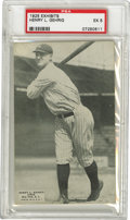 Baseball Cards:Singles (Pre-1930), 1925 Exhibits Lou Gehrig PSA EX 5. This quite sought after memento is widely considered to be Lou Gehrig's rookie card! This...