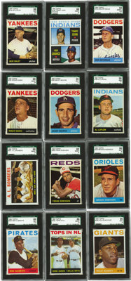 1964 Topps Baseball Extremely High Grade Complete Set (587). Offered is an extremely high grade 1964 Topps Set. An astou...