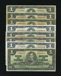 Canadian Currency: , Canadian 1937 $1s.. ... (Total: 8 notes)