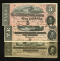 Confederate Notes:1864 Issues, Three 1864 Issues.. ... (Total: 3 notes)