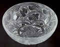 Art Glass:Lalique, A LALIQUE CLEAR AND FROSTED GLASS PINSONS PATTERN BOWL, post1945. Marks: Lalique, France . 9-1/...