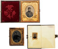 Photography:Tintypes, Lot of Three Civil War Union Soldier Tintypes....