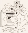 Original Comic Art:Covers, Pete Alvarado and Larry Mayer Walt Disney's The Beagle Boys#22 Cover Original Art (Gold Key, 1974).... (Total: 2 Original Art)