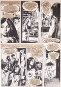 Original Comic Art:Panel Pages, Jose Ortiz Vampirella #94 Page 29 Original Art (Warren,1981)....