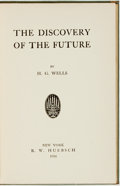 Books:Social Sciences, H. G. Wells. The Discovery of the Future. New York: B. W.Huebsch, 1914. Second printing. ...