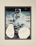 Autographs:Celebrities, Apollo Astronaut Signatures including Neil Armstrong and Two OtherMoonwalkers, Five Total....