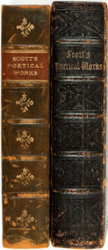 Books:Literature Pre-1900, [Sir Walter Scott]. The Poetical Works of Sir Walter Scott,Bart. Edinburgh: Adam and Charles Black, 1855. Bound... (Total:2 Items)