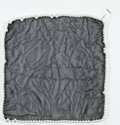 """Luxury Accessories:Accessories, Chanel Black Silk Chiffon and Glass Pearl Scarf . Good to VeryGood Condition. 14"""" Width x 14"""" Height. ..."""