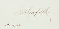 Autographs:U.S. Presidents, James Garfield Signature....