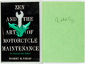 Books:Fiction, Robert M Pirsig. SIGNED. Zen and the Art of MotorcycleMaintenance. An Inquiry into Values. New York: WilliamMo...