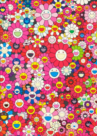 TAKASHI MURAKAMI (Japanese, b. 1962) An Homage to Monogold 1960, An Homage to Monopink 1960 A, and A
