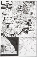 Original Comic Art:Panel Pages, John Romita Jr. and Scott Hanna Avengers vs. X-Men #3 Page 20 Captain America, Giant-Man, and Wolverine Original A...