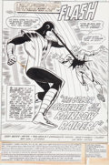 Original Comic Art:Splash Pages, Don Heck and Frank Chiaramonte Flash #286 Splash Page 1Rainbow Raider/Prism Original Art Splash Page (DC, 1980)....