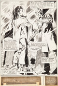 Original Comic Art:Splash Pages, Don Heck and Dick Giordano Wonder Woman #199 Splash Page 1and Page 2 Original Art Group (DC, 1972).... (Total: 2 OriginalArt)