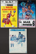 Basketball Collectibles:Others, 1970s and 80s Harlem Globetrotters Posters Lot of 3....