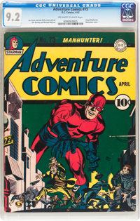 Adventure Comics #73 (DC, 1942) CGC NM- 9.2 Off-white to white pages