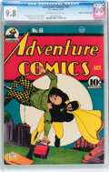 Golden Age (1938-1955):Superhero, Adventure Comics #55 Mile High pedigree (DC, 1940) CGC NM/MT 9.8 Off-white to white pages....