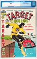 Golden Age (1938-1955):Superhero, Target Comics #12 Mile High pedigree (Novelty Press, 1941) CGC NM 9.4 White pages....