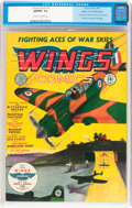 Golden Age (1938-1955):War, Wings Comics #1 Mile High pedigree (Fiction House, 1940) CGC NM/MT 9.8 Off-white to white pages....