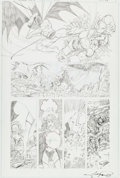 Original Comic Art:Panel Pages, George Perez JLA/Avengers Special Page 6 UnpublishedOriginal Art (Marvel/DC, c. 1983)....