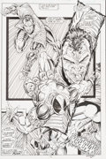 Original Comic Art:Panel Pages, Rob Liefeld X-Force #2 Page 6 Original Art (Marvel,1991)....