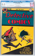 Golden Age (1938-1955):Superhero, Detective Comics #102 (DC, 1945) CGC VF 8.0 Off-white to white pages....