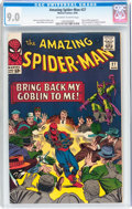 Silver Age (1956-1969):Superhero, The Amazing Spider-Man #27 (Marvel, 1965) CGC VF/NM 9.0 Off-white to white pages....