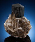 Minerals:Cabinet Specimens, SCHORL & QUARTZ. Davib East Farm 61 (Davib Ost Farm 61),Karibib District, Erongo Region, Namibia. . ...