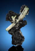 Minerals:Small Cabinet, BERYL on SCHORL. Erongo Mountain, Erongo Region, Namibia. . ...