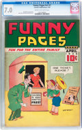 Golden Age (1938-1955):Miscellaneous, Funny Pages V2#7 (Centaur, 1938) CGC FN/VF 7.0 Cream to off-white pages....