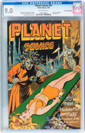 Golden Age (1938-1955):Science Fiction, Planet Comics #41 Cosmic Aeroplane pedigree (Fiction House, 1946)CGC VF/NM 9.0 Off-white pages....
