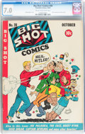 Golden Age (1938-1955):Miscellaneous, Big Shot Comics #28 (Columbia, 1942) CGC FN/VF 7.0 Cream to off-white pages....