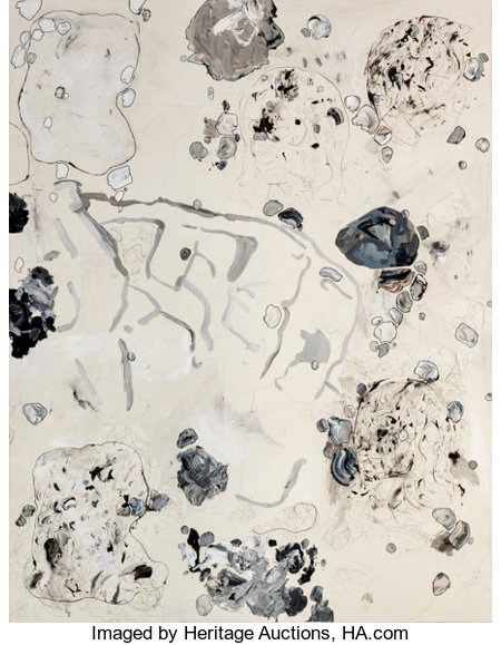 CARTER (American, b. 1970)to/is/the/and, Lineaments including large Rock Formation, 2008Acrylic, ink, colored pencil...