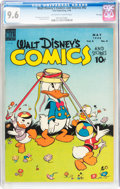 Golden Age (1938-1955):Cartoon Character, Walt Disney's Comics and Stories #92 File Copy (Dell, 1948) CGC NM+9.6 Off-white to white pages....