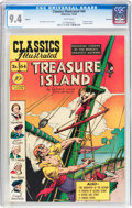 Golden Age (1938-1955):Classics Illustrated, Classics Illustrated #64 Treasure Island Original Edition - Vancouver pedigree (Gilberton, 1949) CGC NM 9.4 White pages....