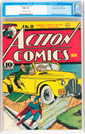 Golden Age (1938-1955):Superhero, Action Comics #30 Mile High pedigree (DC, 1940) CGC NM- 9.2 Off-white to white pages....