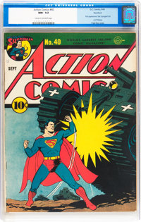 Action Comics #40 Rockford pedigree (DC, 1941) CGC NM- 9.2 Cream to off-white pages